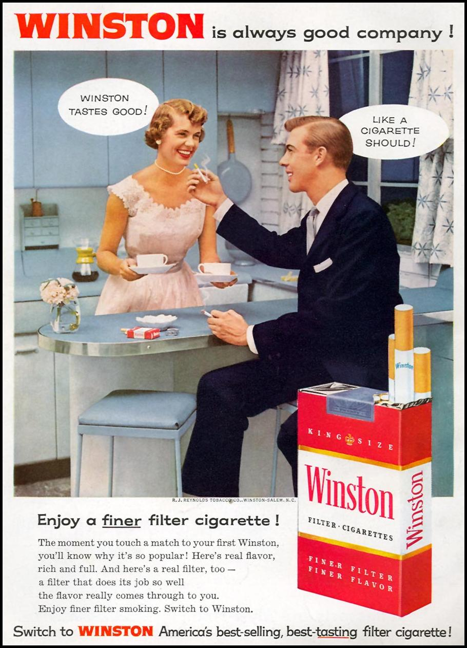 WINSTON CIGARETTES FAMILY CIRCLE 02/01/1957 BACK COVER