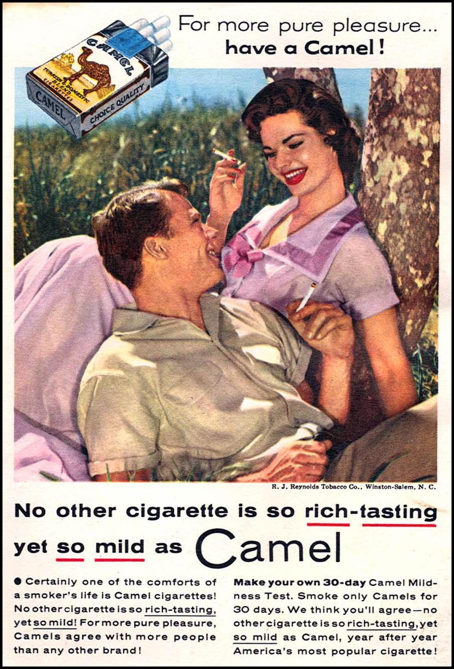 CAMEL CIGARETTES CORONET 08/01/1955 BACK COVER