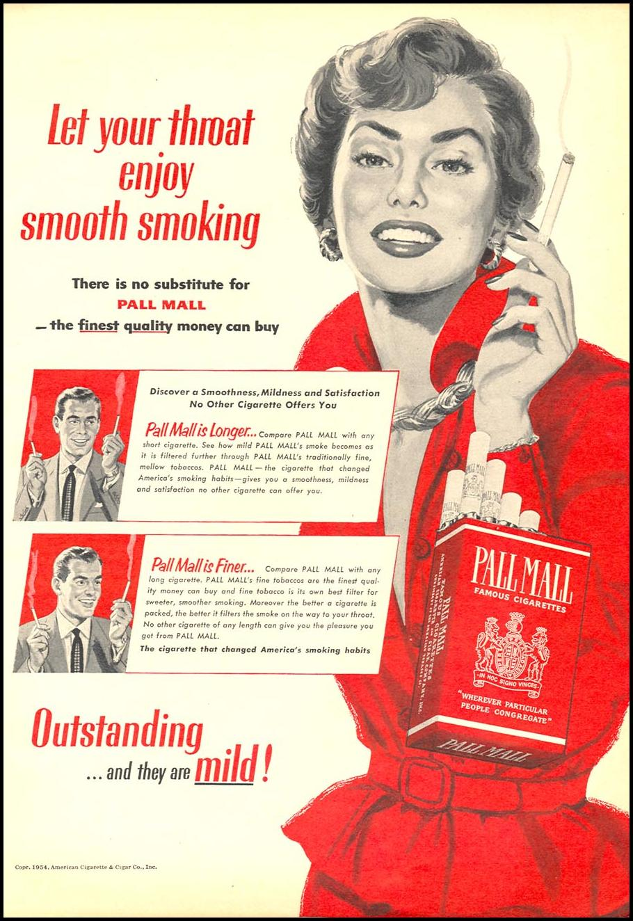 PALL MALL CIGARETTES WOMAN'S DAY 02/01/1954 p. 101