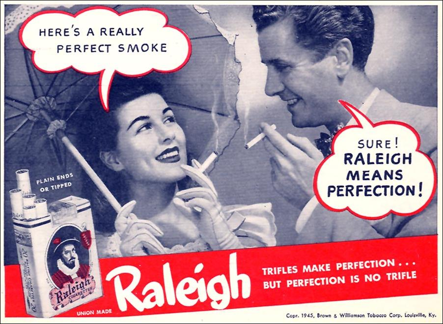 RALEIGH CIGARETTES WOMAN'S DAY 09/01/1945 p. 69