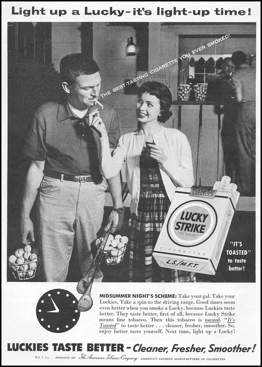 LUCKY STRIKE CIGARETTES WOMAN'S DAY 09/01/1955 p. 104