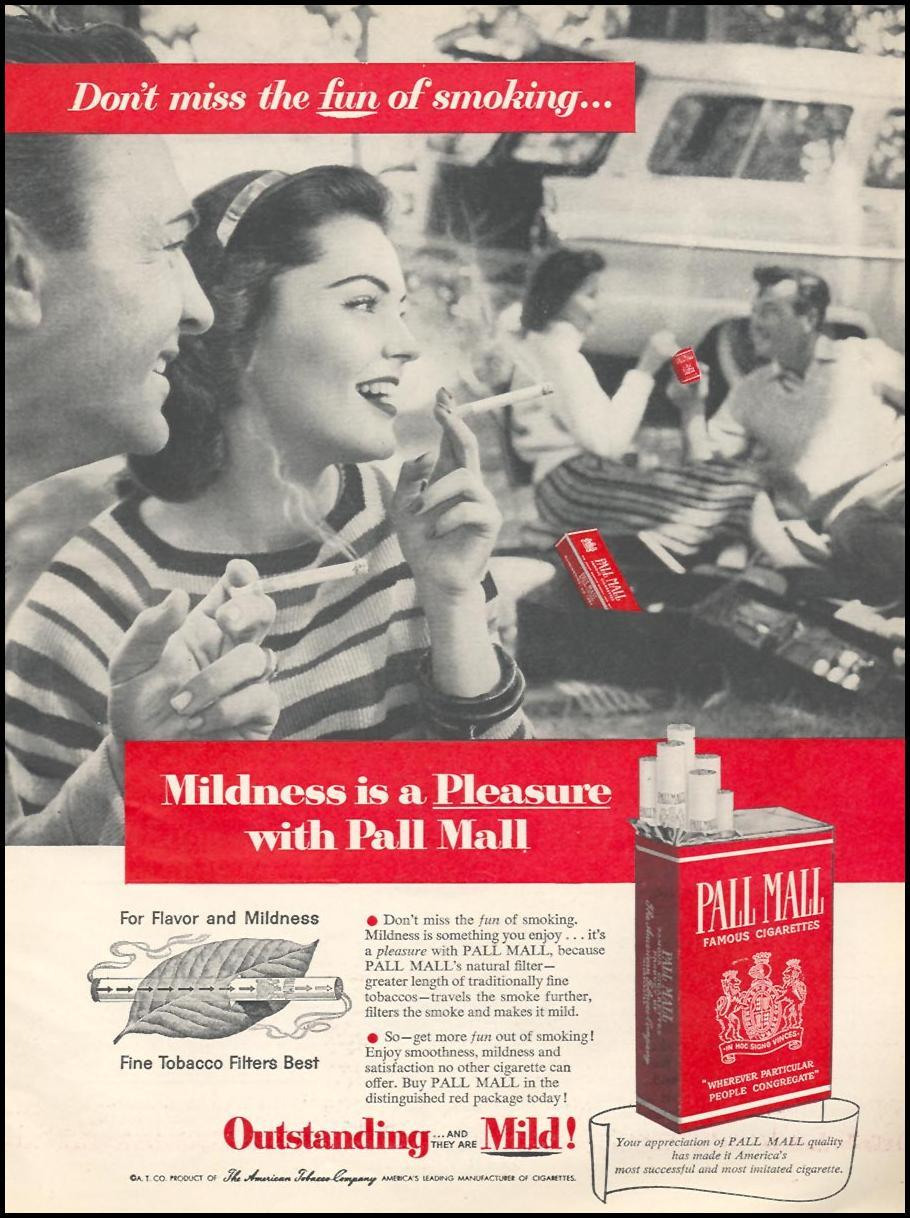 PALL MALL CIGARETTES WOMAN'S DAY 10/01/1956 p. 15