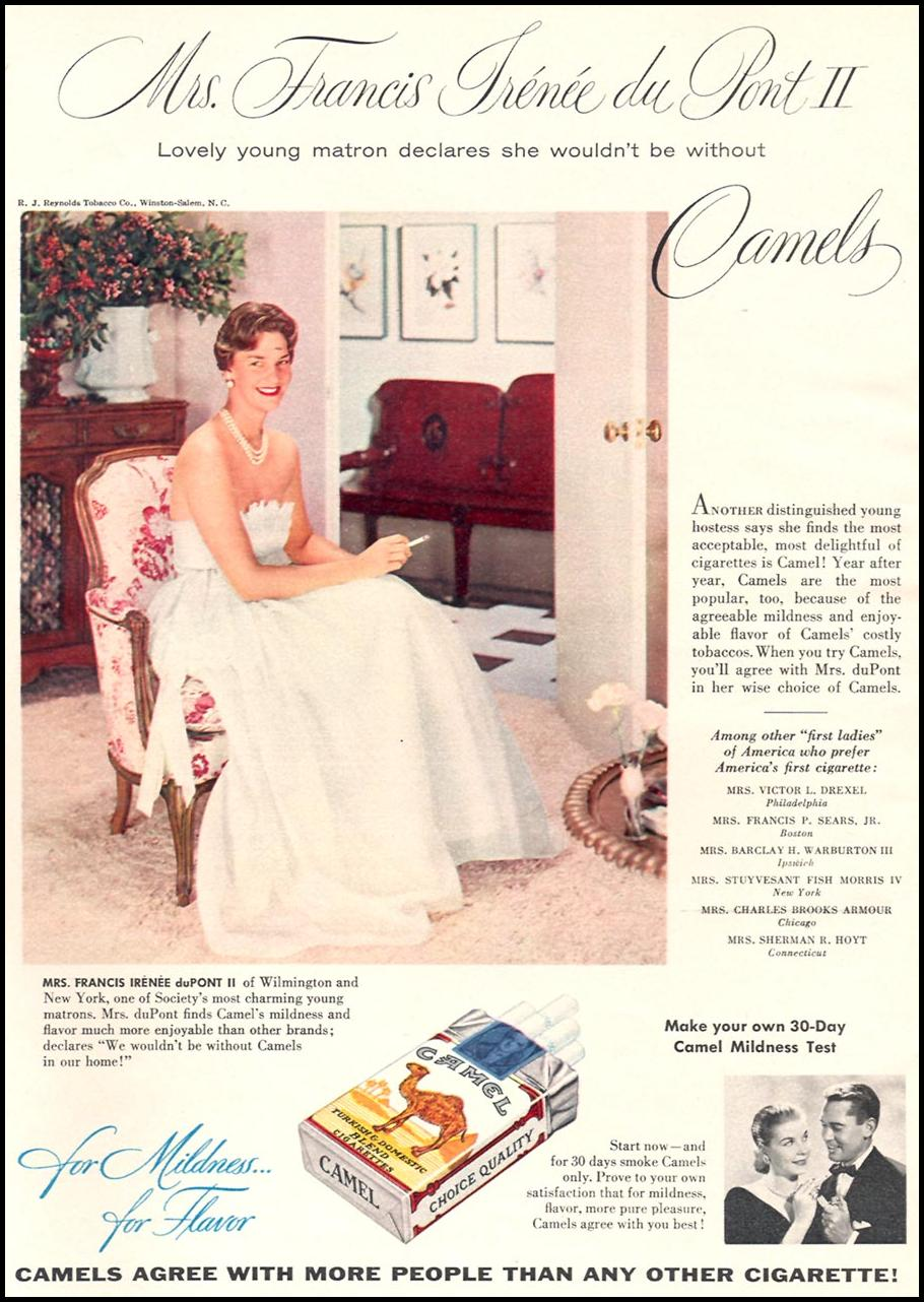 CAMEL CIGARETTES WOMAN'S DAY 12/01/1954 p. 24