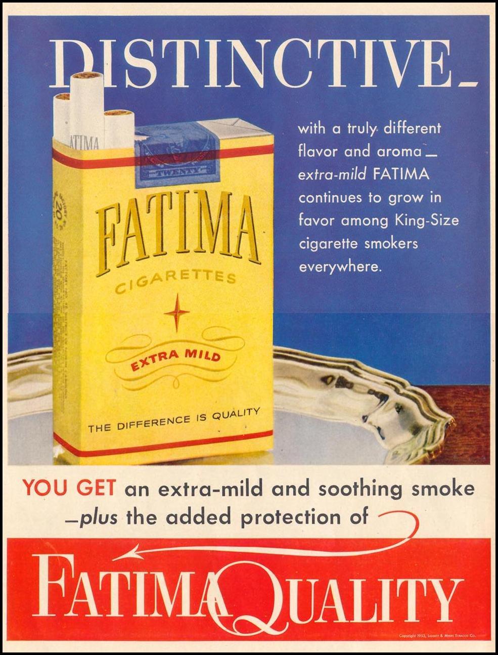 FATIMA CIGARETTES LIFE 02/02/1953 p. 6
