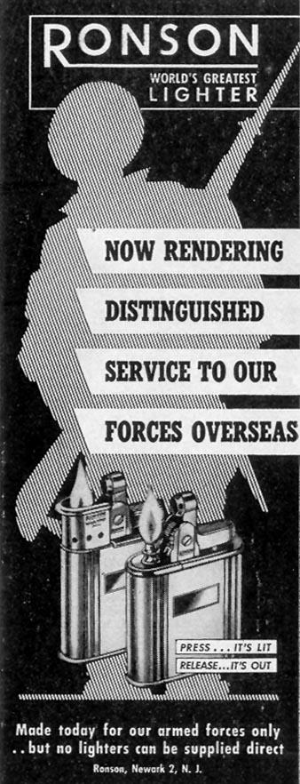 RONSON CIGARETTE LIGHTERS LIFE 02/21/1944 p. 20