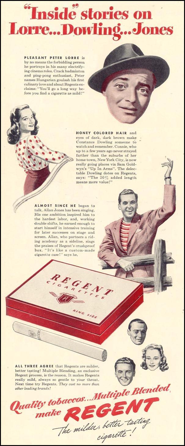 REGENT CIGARETTES LIFE 02/21/1944 p. 70