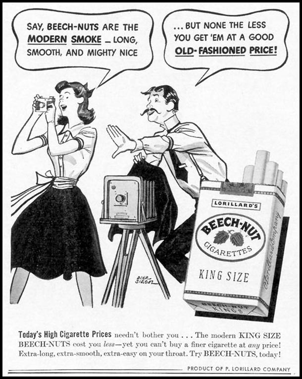 BEECH-NUT CIGARETTES LIFE 06/01/1942 p. 18