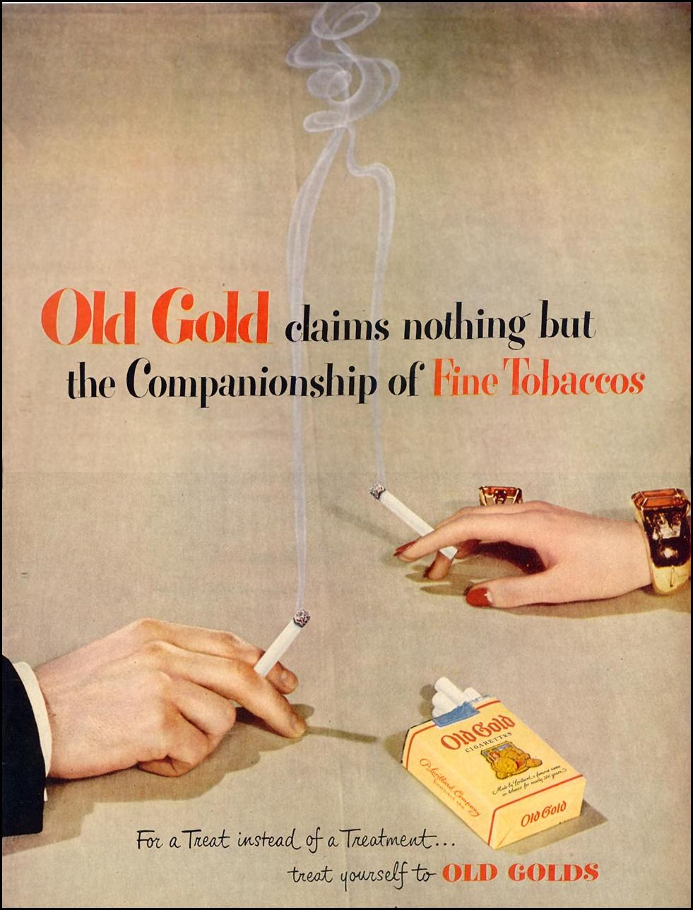 OLD GOLD CIGARETTES LIFE 06/05/1950 p. 37