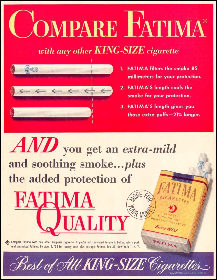 FATIMA CIGARETTES LIFE 06/16/1952 p. 12