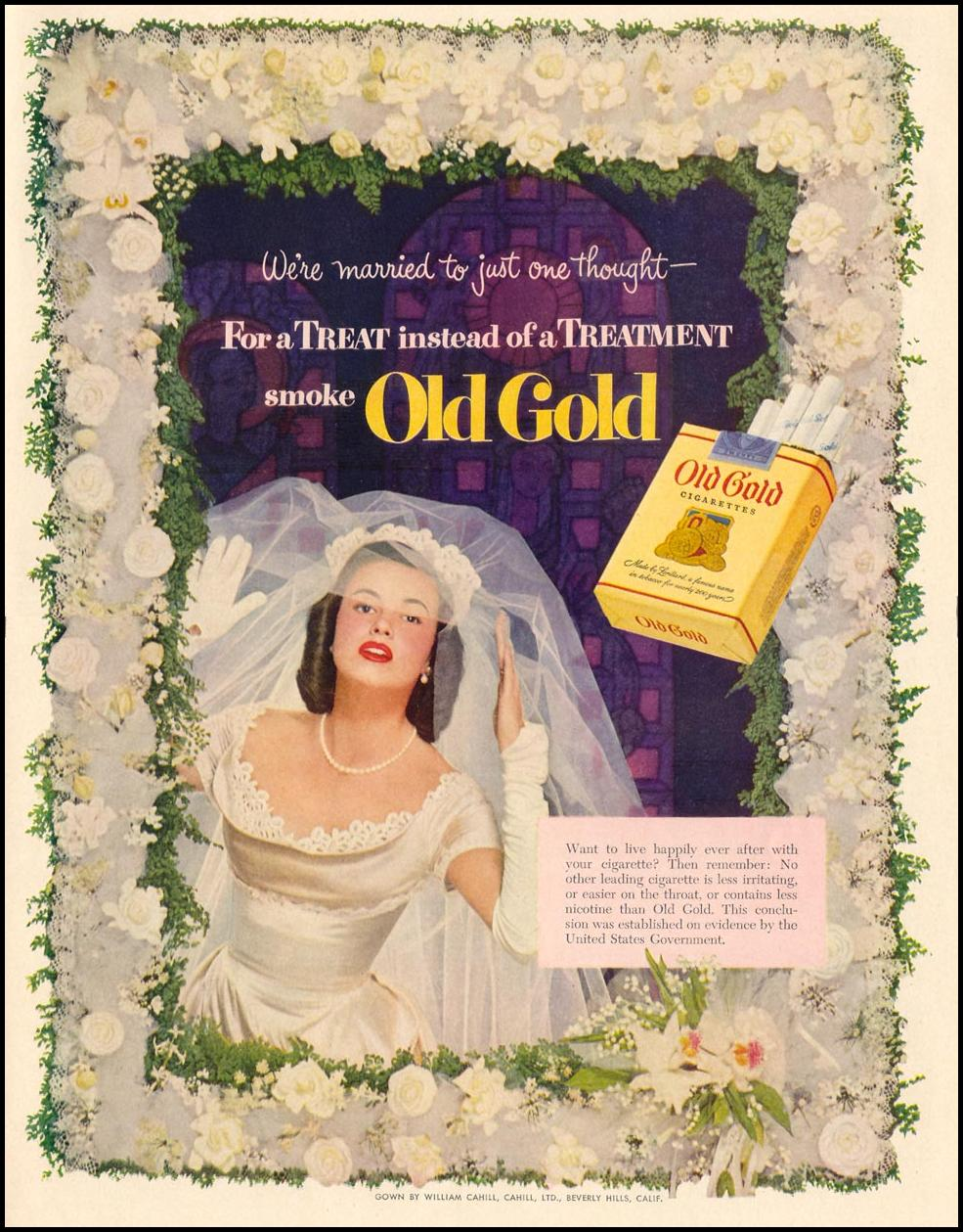 OLD GOLD CIGARETTES LIFE 06/16/1952 p. 51