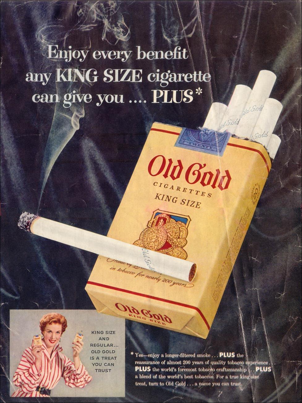 OLD GOLD CIGARETTES LIFE 07/12/1954 INSIDE FRONT