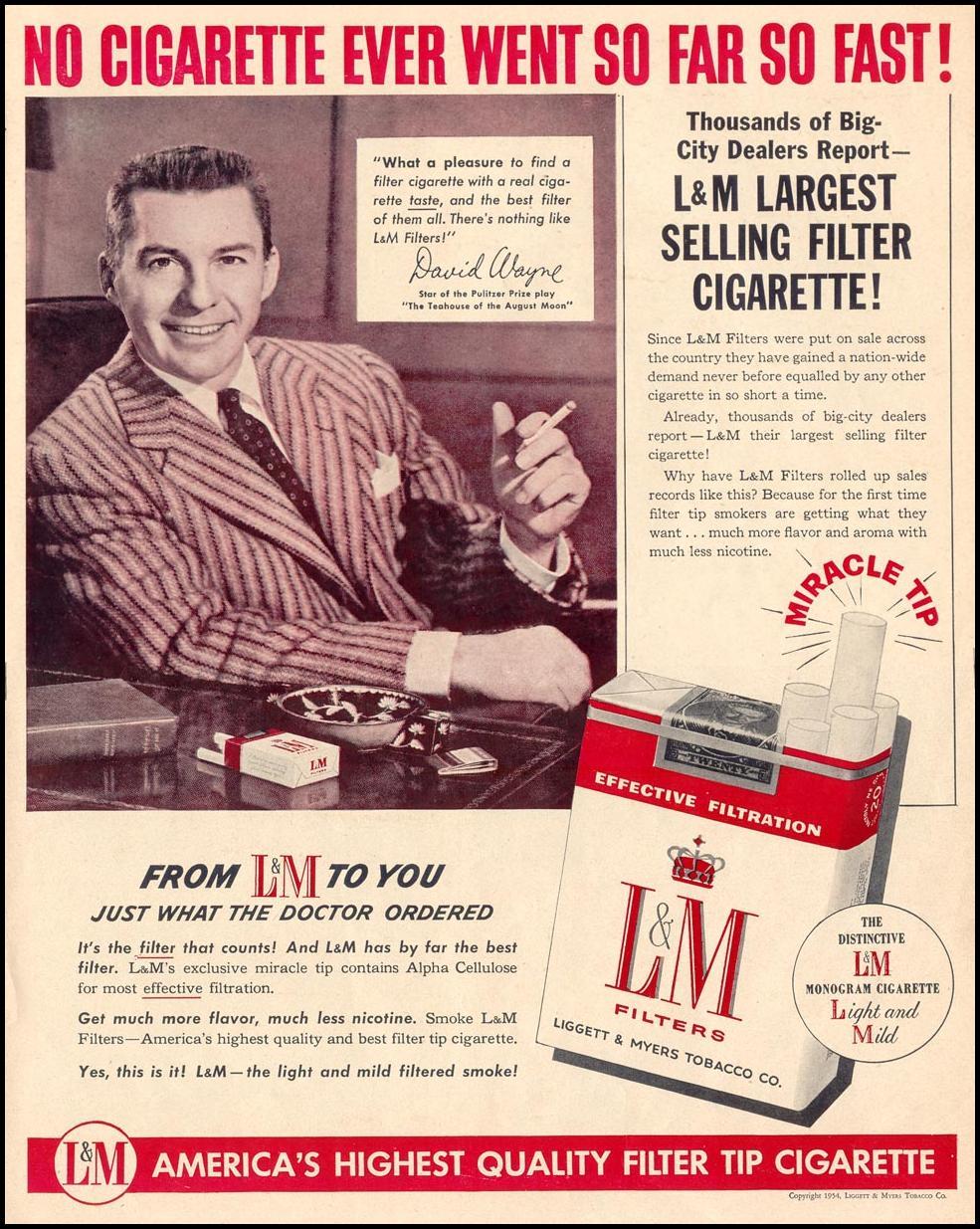 L & M CIGARETTES LIFE 07/12/1954 p. 41