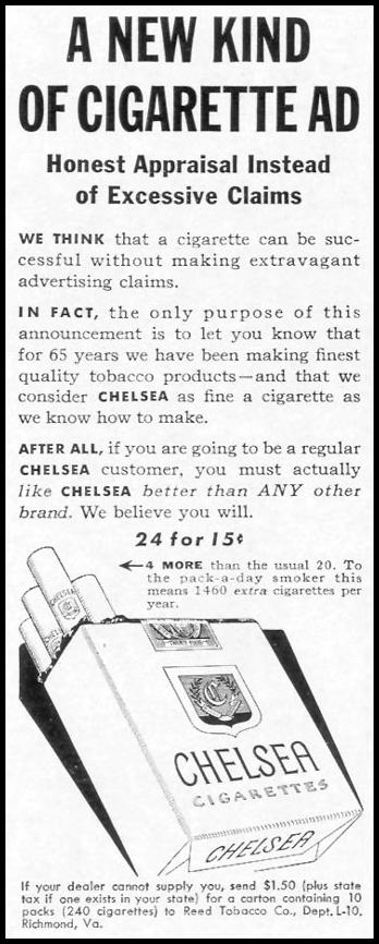 CHELSEA CIGARETTES LIFE 10/13/1941 p. 150