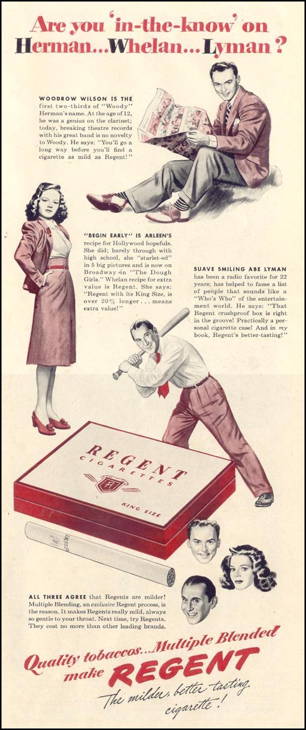 REGENT CIGARETTES LIFE 11/08/1943 p. 61