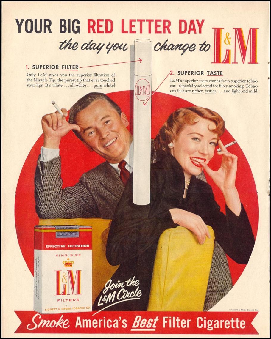 L & M CIGARETTES LIFE 11/14/1955 p. 122