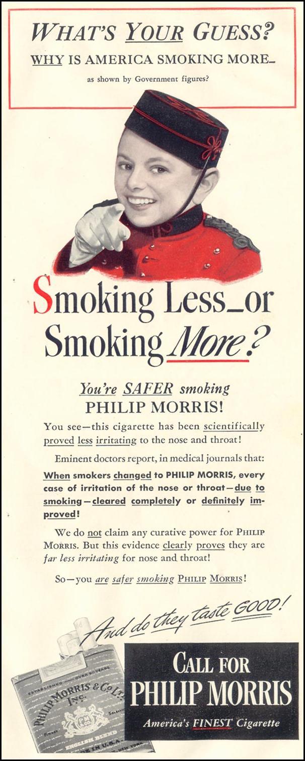PHILIP MORRIS CIGARETTES LIFE 11/30/1942