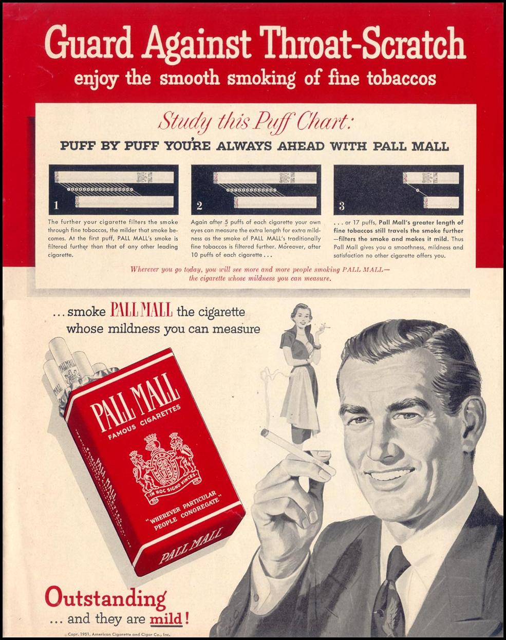 PALL MALL CIGARETTES LOOK 12/04/1951 p. 73