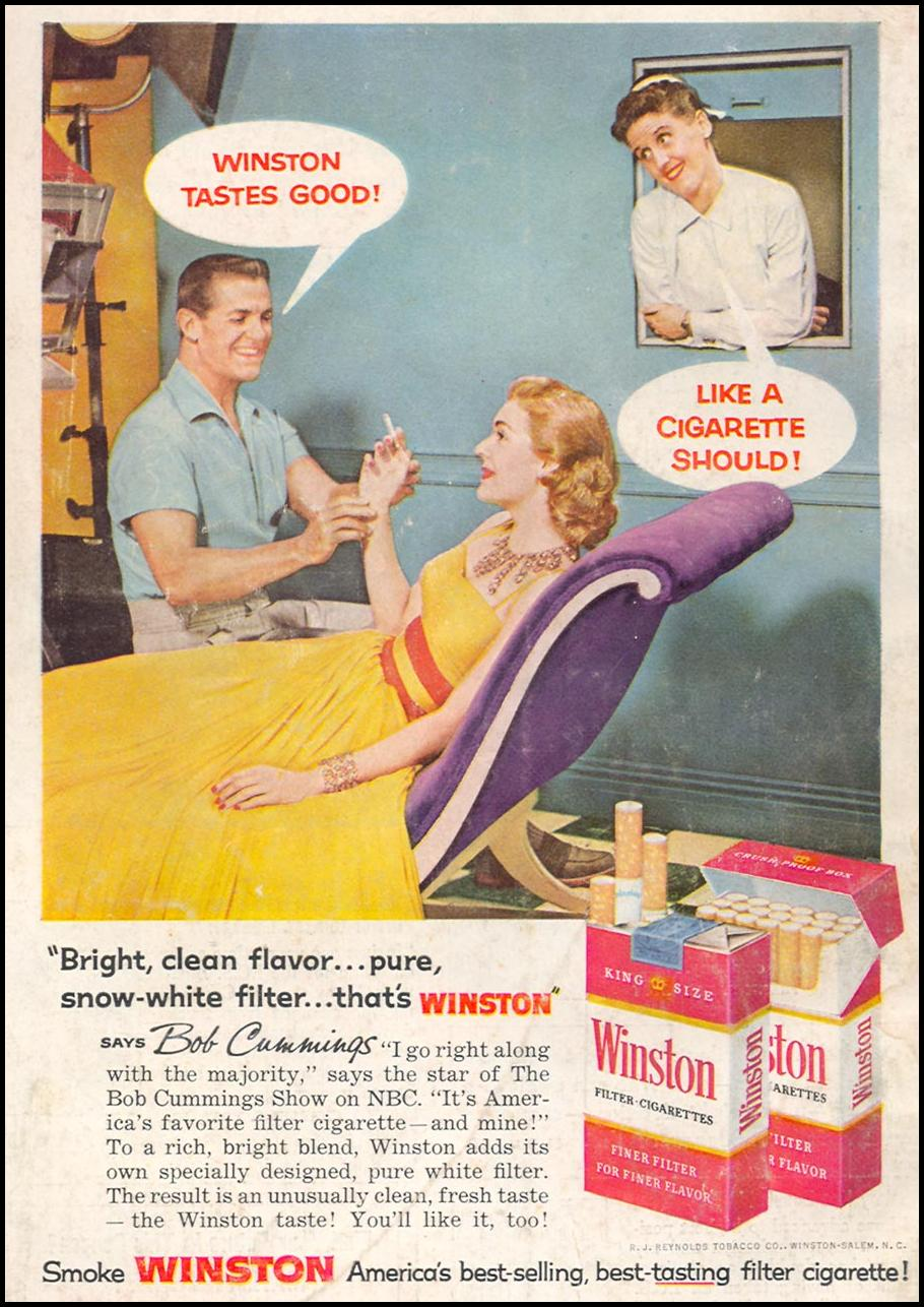 WINSTON CIGARETTES POPULAR SCIENCE 06/01/1958 BACK COVER