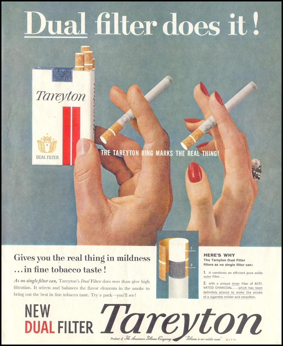 TAREYTON CIGARETTES SATURDAY EVENING POST 05/02/1959 p. 29