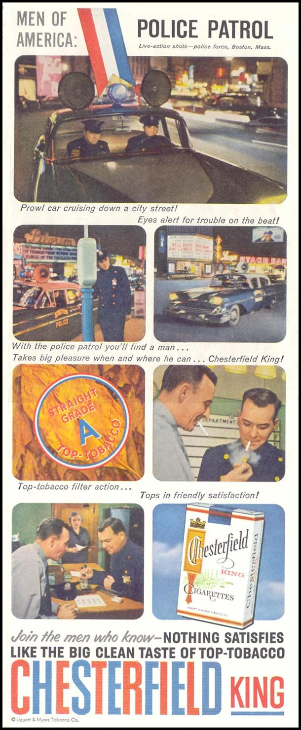 CHESTERFIELD CIGARETTES SATURDAY EVENING POST 05/02/1959 p. 57