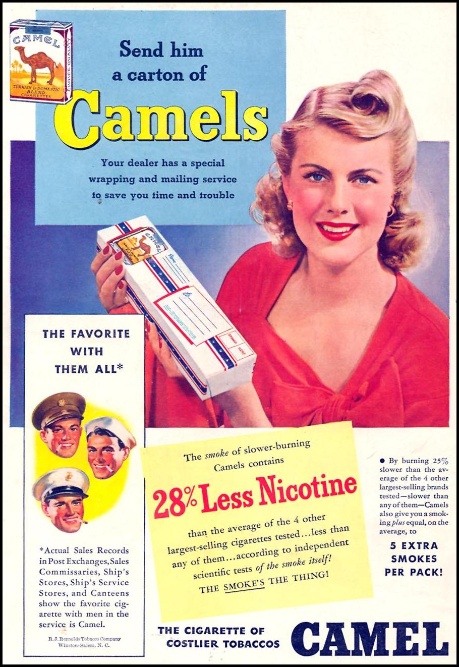 CAMEL CIGARETTES TIME 01/12/1942 BACK COVER