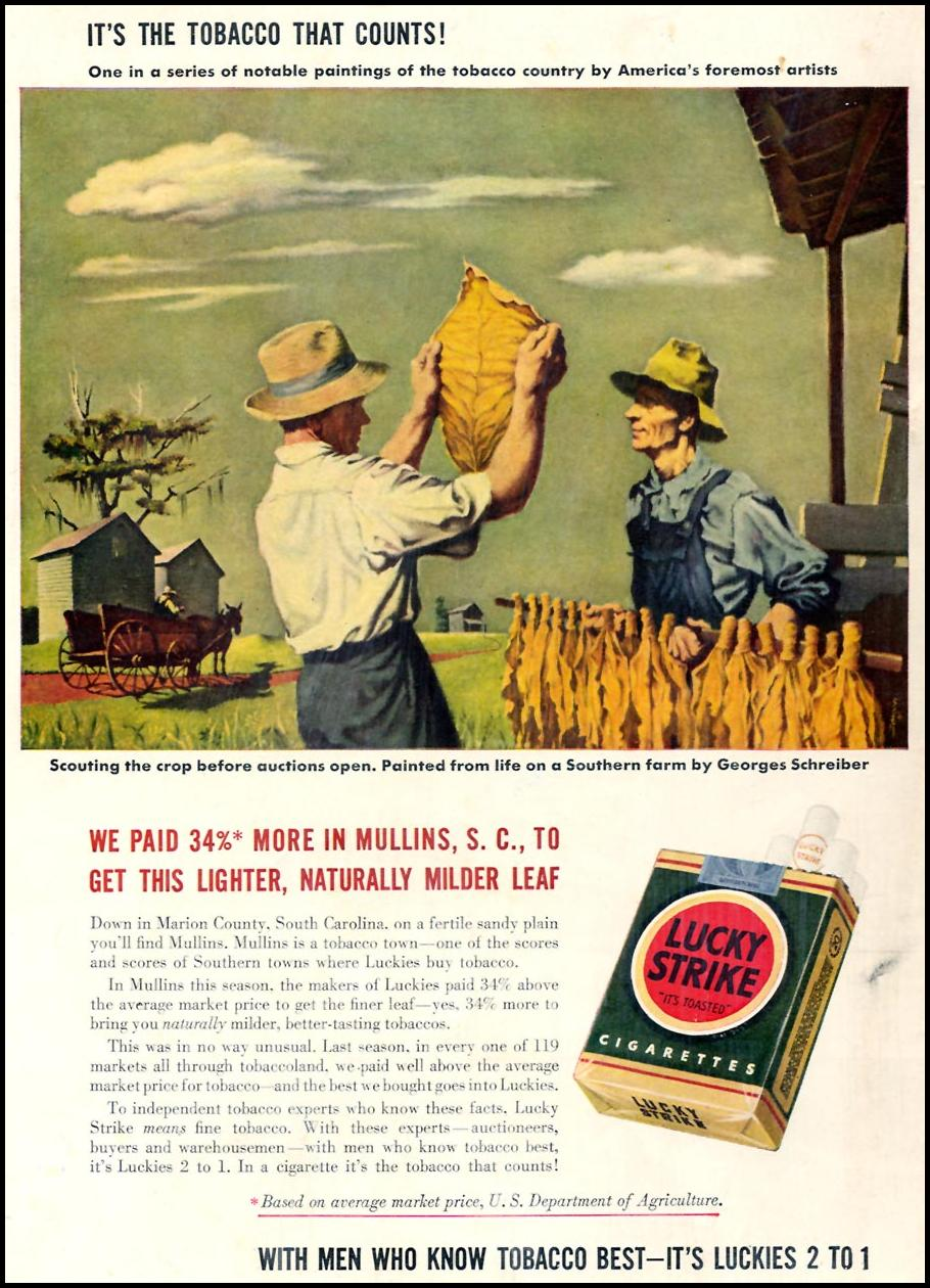 LUCKY STRIKE CIGARETTES TIME 02/16/1942 BACK COVER