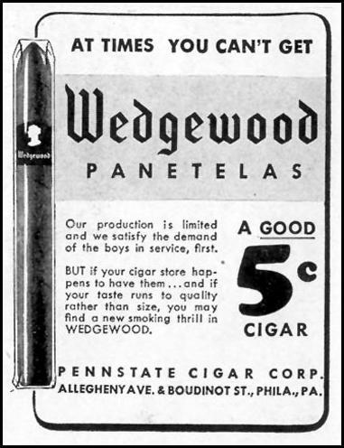 WEDGEWOOD PANETELAS LIFE 11/08/1943 p. 92
