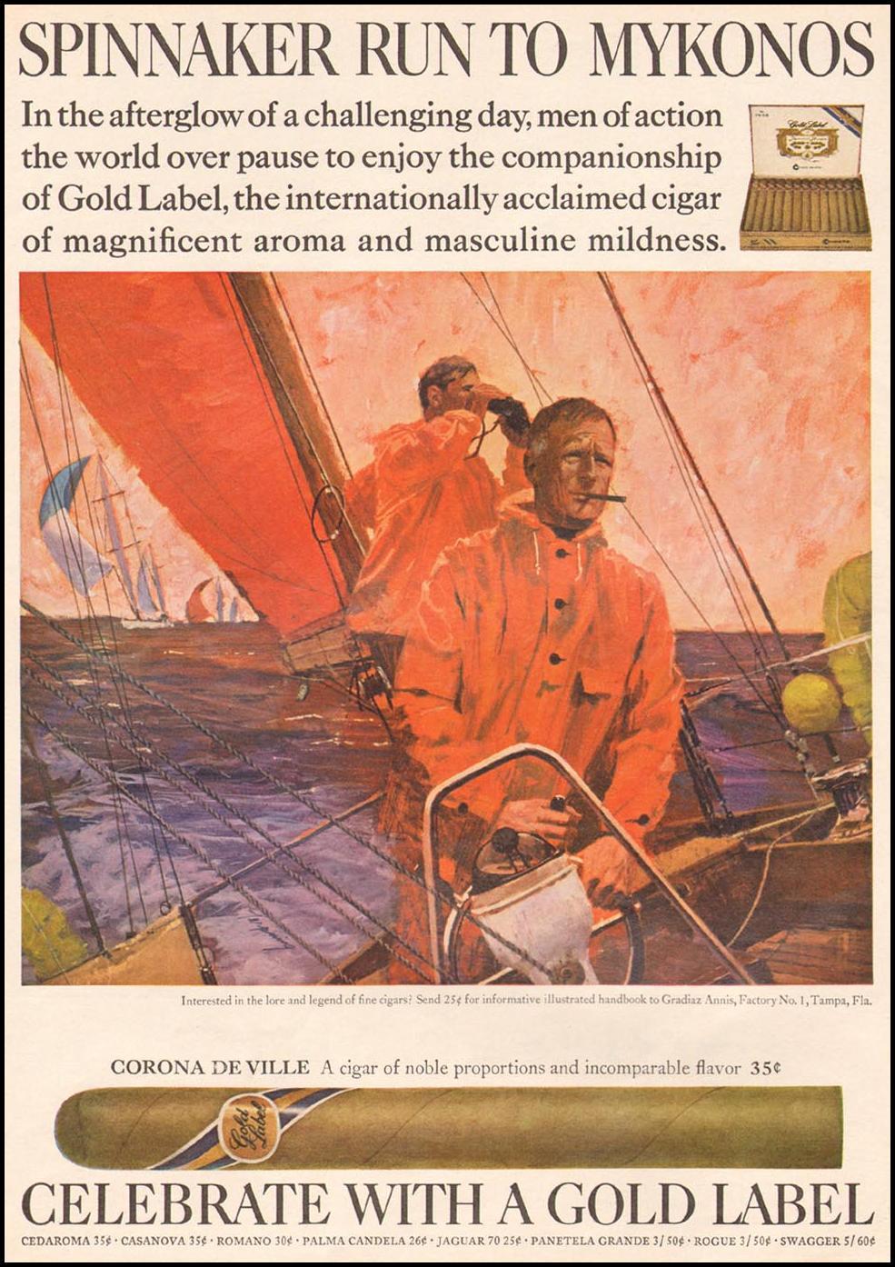 CORONA DE VILLE CIGARS NEWSWEEK 06/17/1968