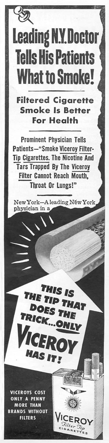VICEROY CIGARETTES TIME 06/08/1953 p. 105