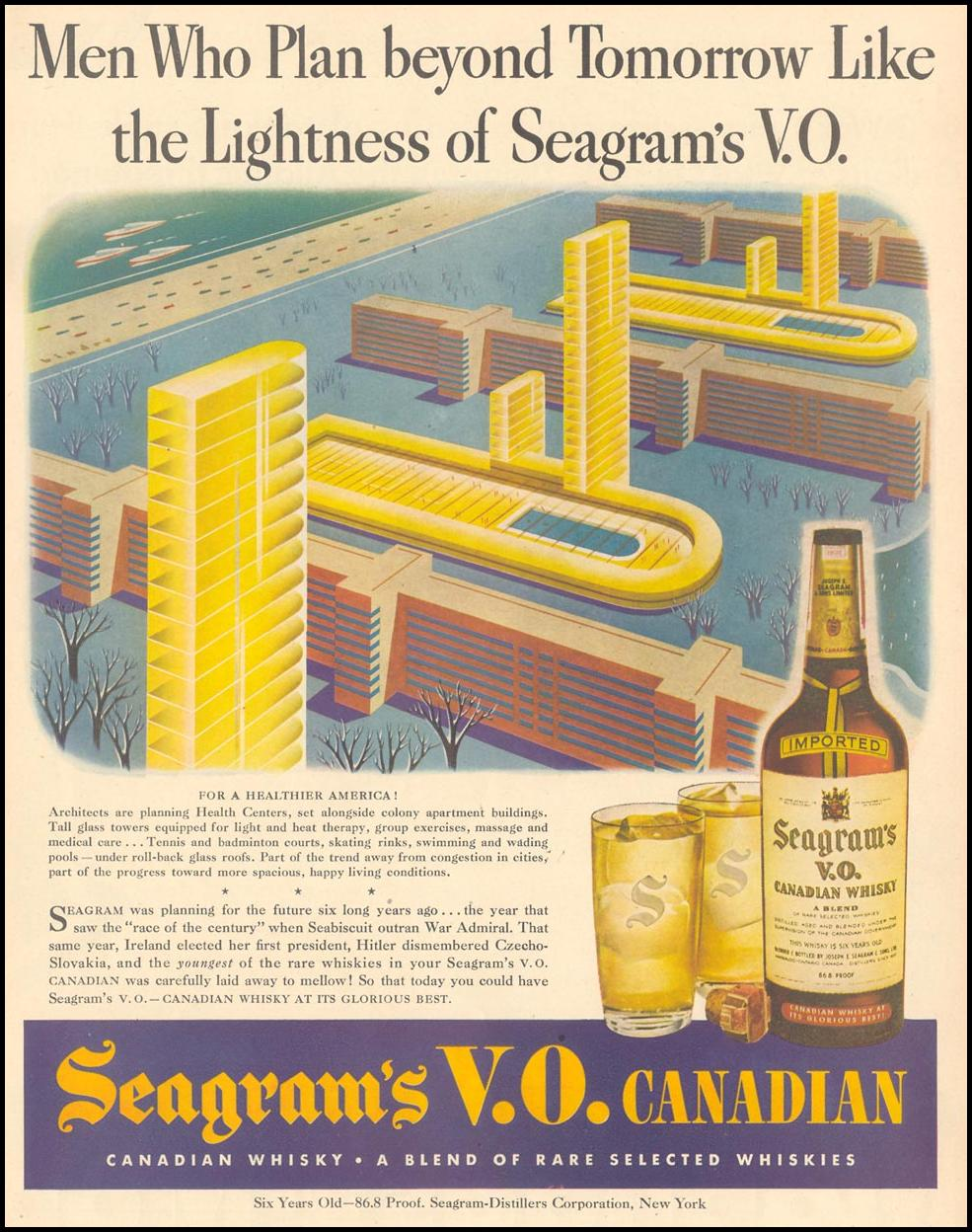 SEAGRAM'S V. O. CANADIAN WHISKY LIFE 02/21/1944