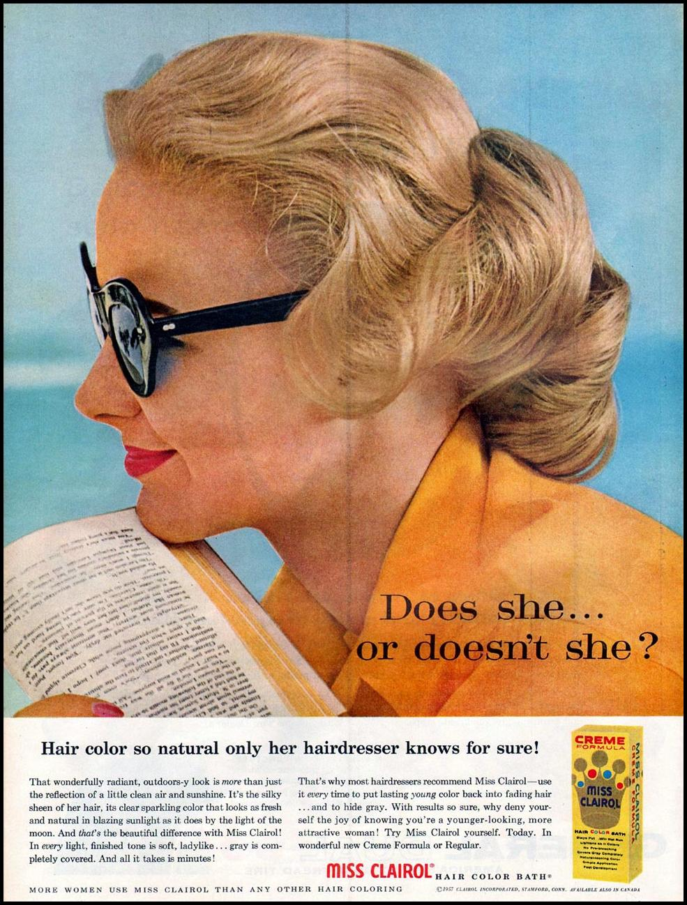 MISS CLAIROL HAIR COLOR BATH LIFE 07/01/1957 p. 80