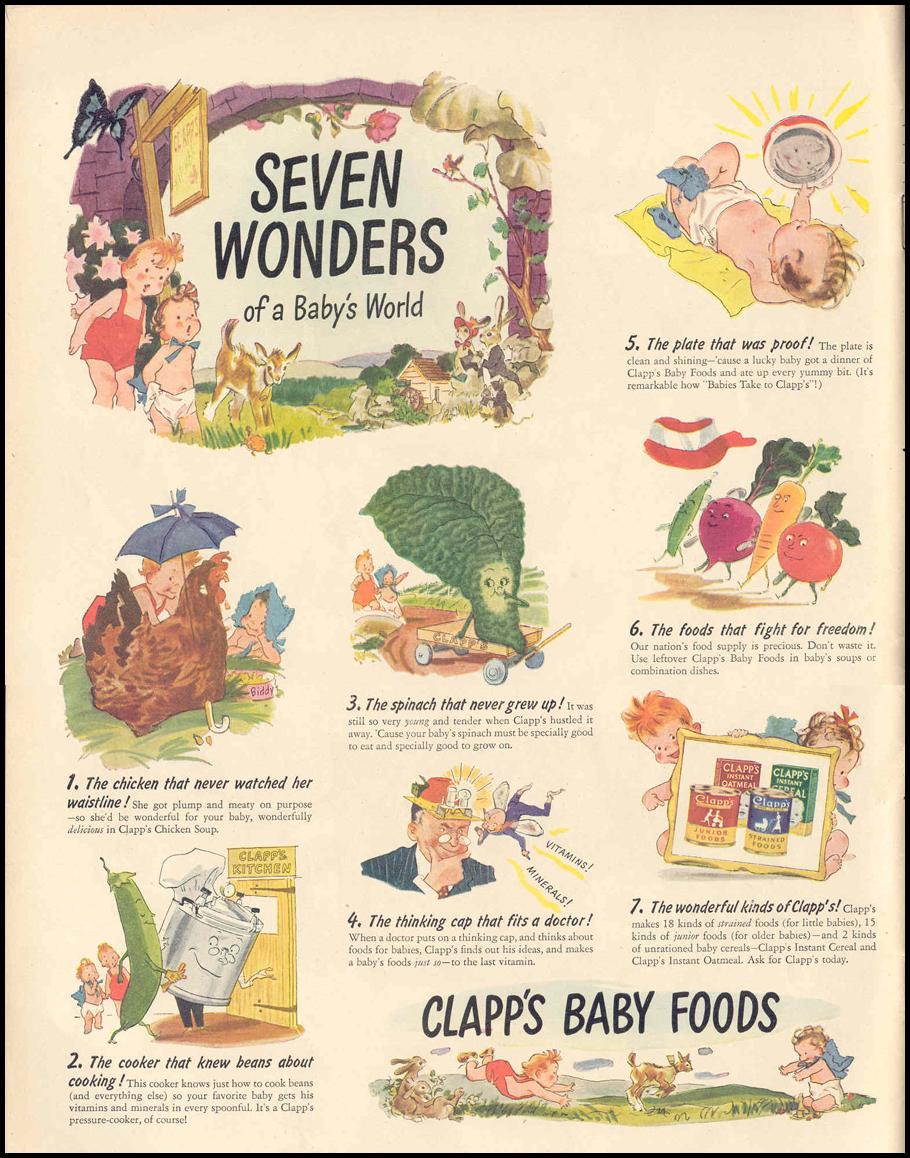 CLAPP'S BABY FOODS LIFE 02/14/1944 p. 110