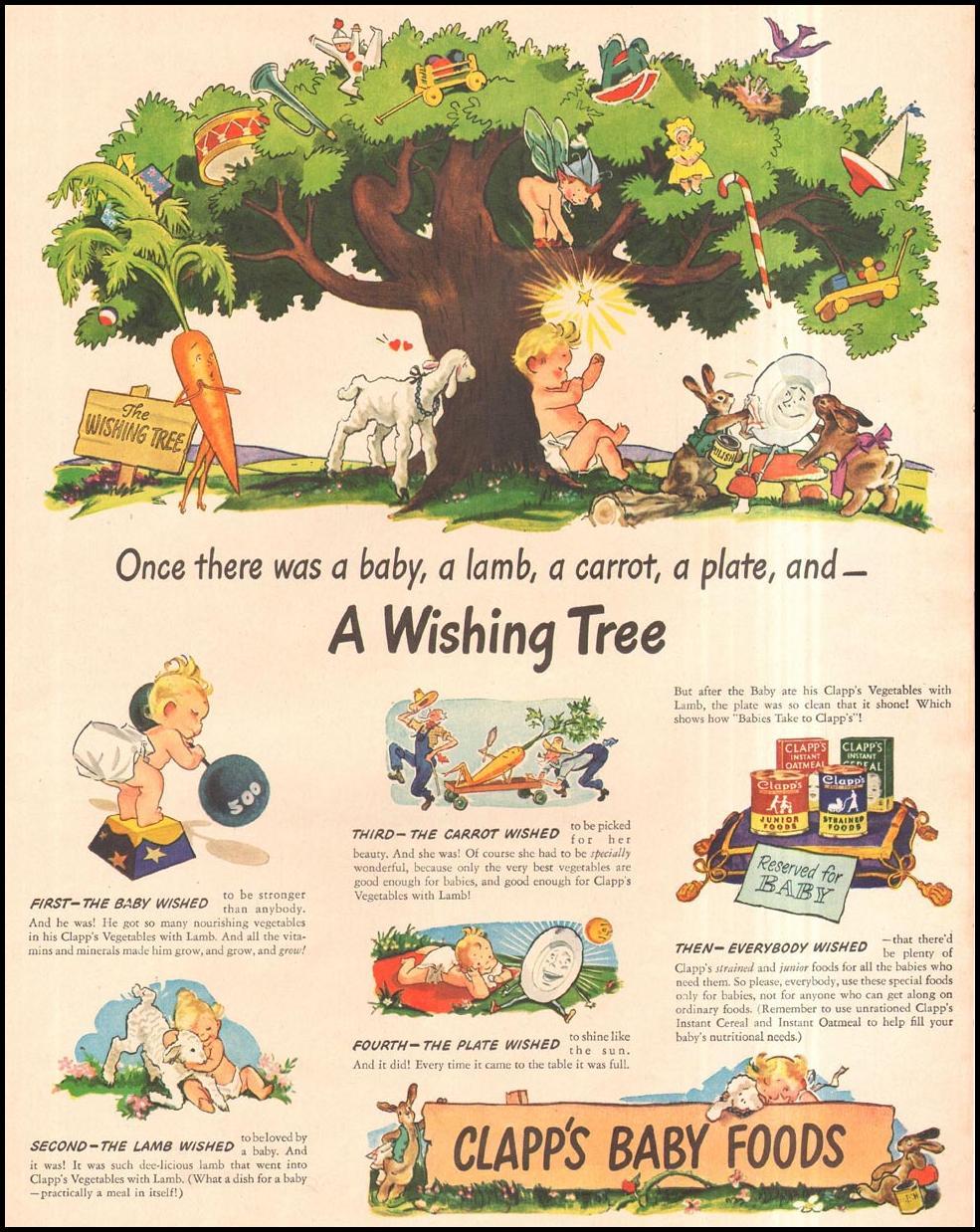 CLAPP'S BABY FOODS LIFE 11/13/1944 p. 83
