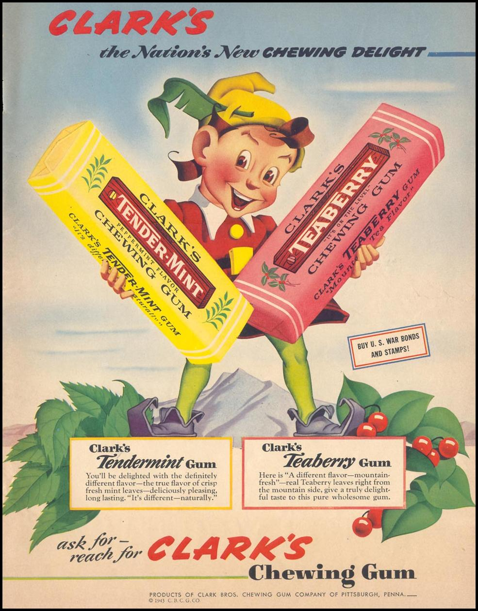 CLARK'S CHEWING GUM LIFE 05/24/1943