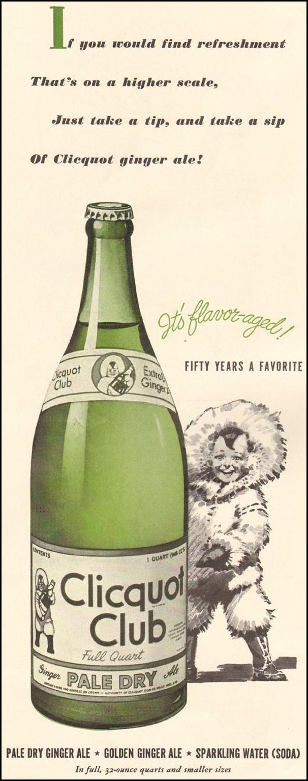 CLICQUOT CLUB PALE DRY GINGER ALE LIFE 04/28/1941 p. 130
