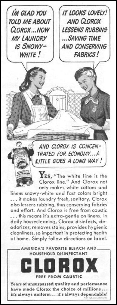 CLOROX BLEACH LIFE 11/25/1946 p. 102