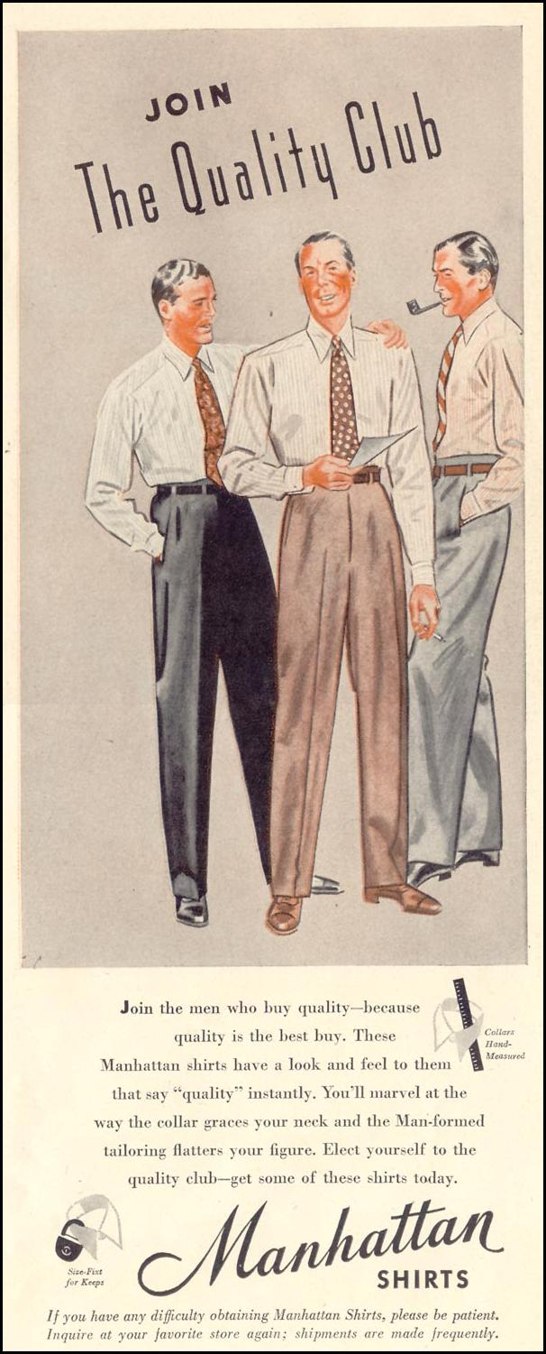MANHATTAN SHIRTS LIFE 11/08/1943 p. 75