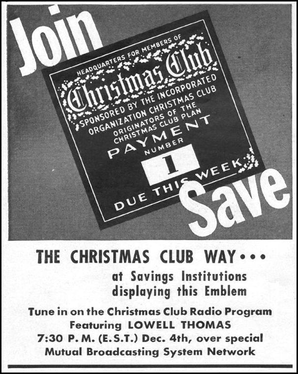 CHRISTMAS CLUB RADIO PROGRAM LIFE 11/25/1946 p. 24