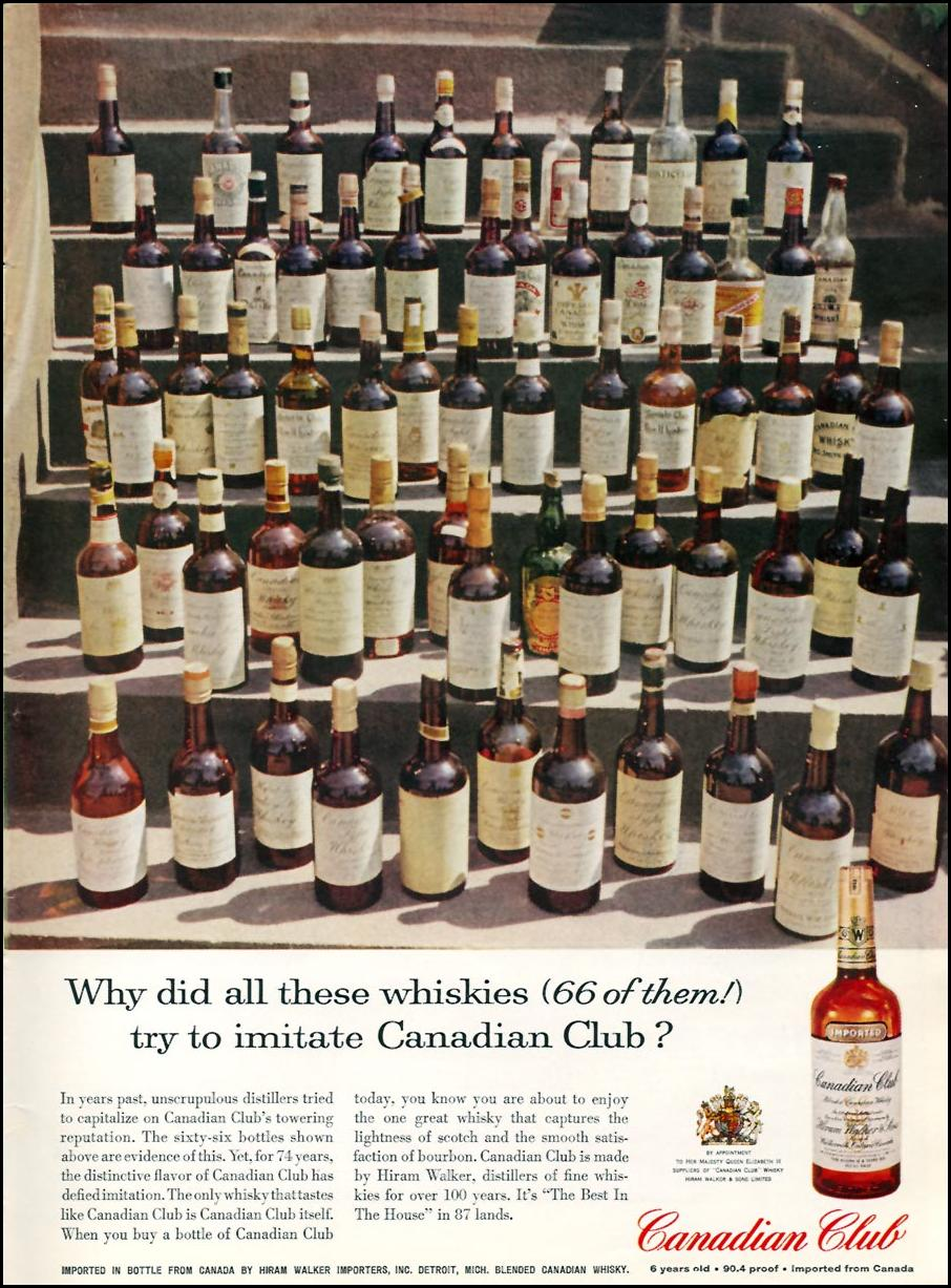 CANADIAN CLUB WHISKY SPORTS ILLUSTRATED 05/11/1959 INSIDE BACK
