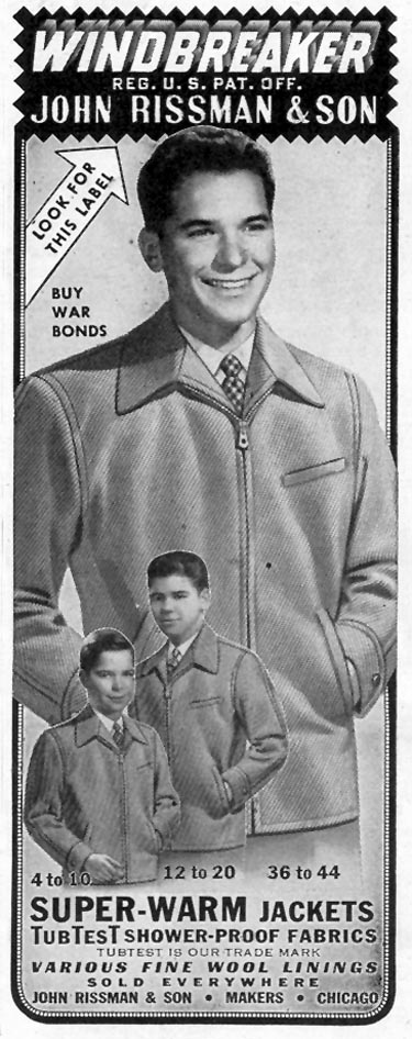 WINDBREAKER JACKET SATURDAY EVENING POST 10/06/1945 p. 117