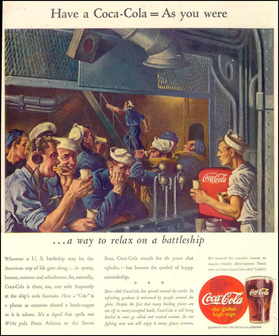 COCA-COLA LIFE 02/14/1944 BACK COVER