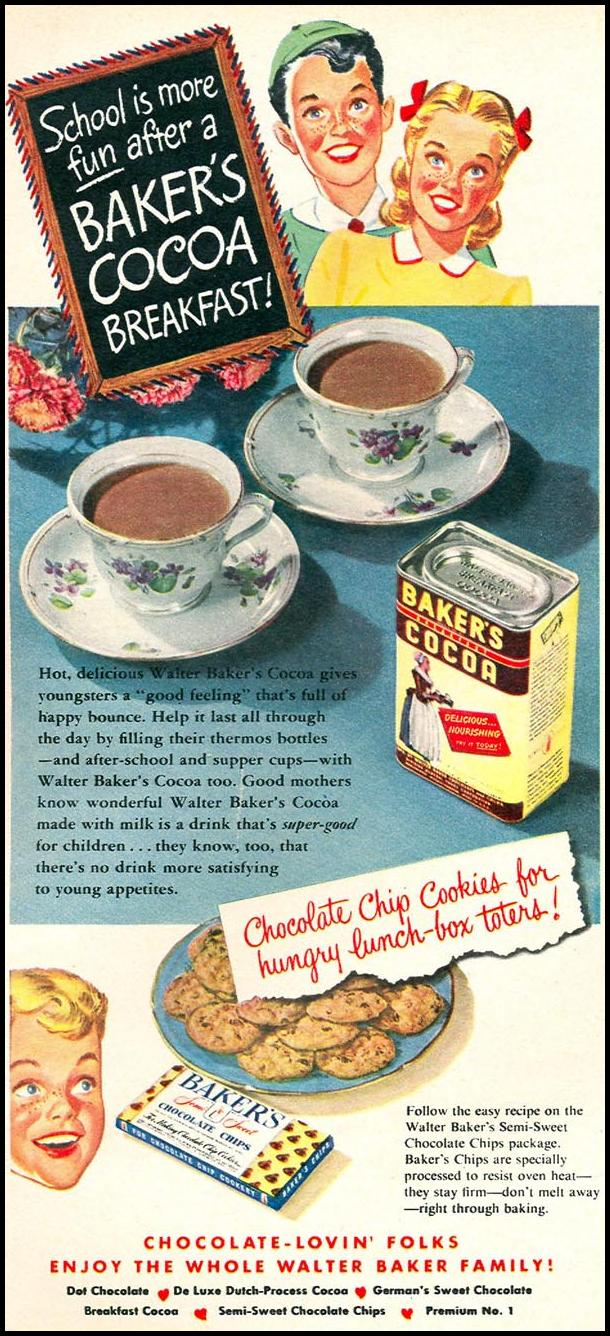 BAKER'S COCOA WOMAN'S DAY 09/01/1949 p. 26