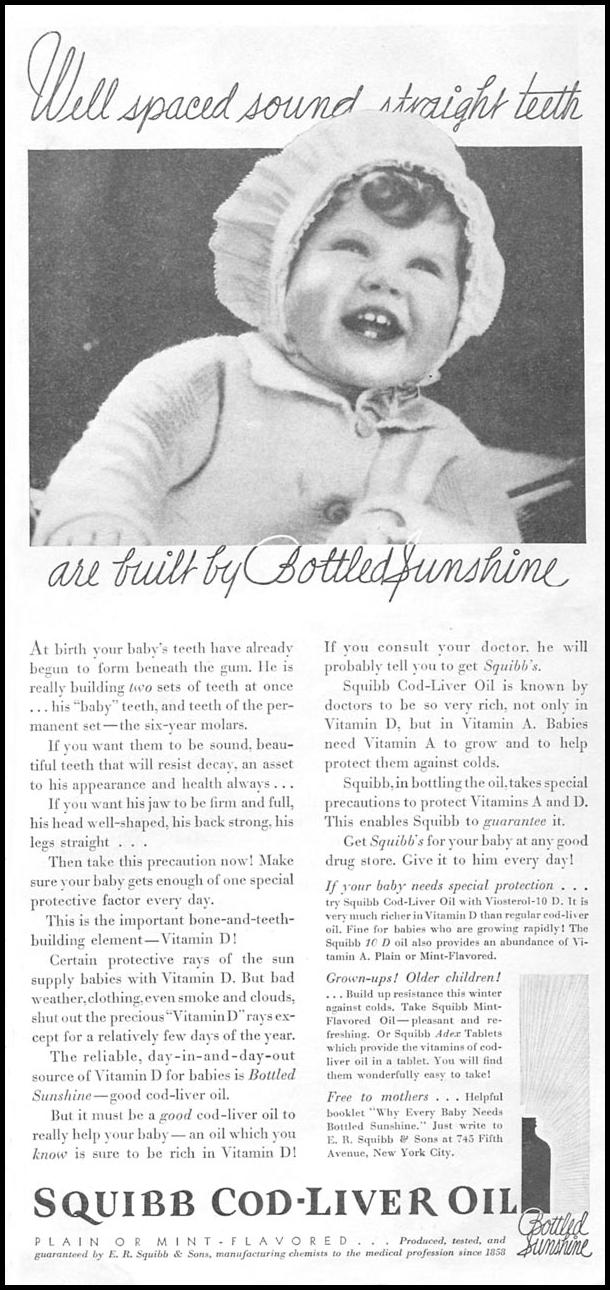 SQUIBB COD-LIVER OIL GOOD HOUSEKEEPING 01/01/1932 p. 141