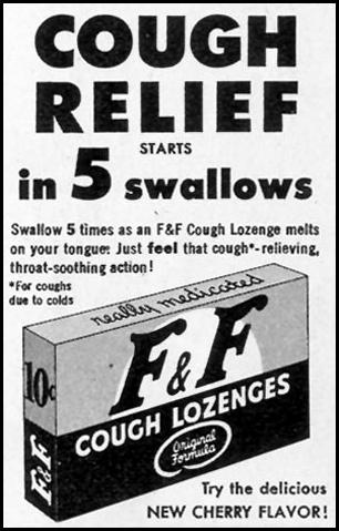 F & F COUGH LOZENGES LOOK 12/04/1951 p. 12