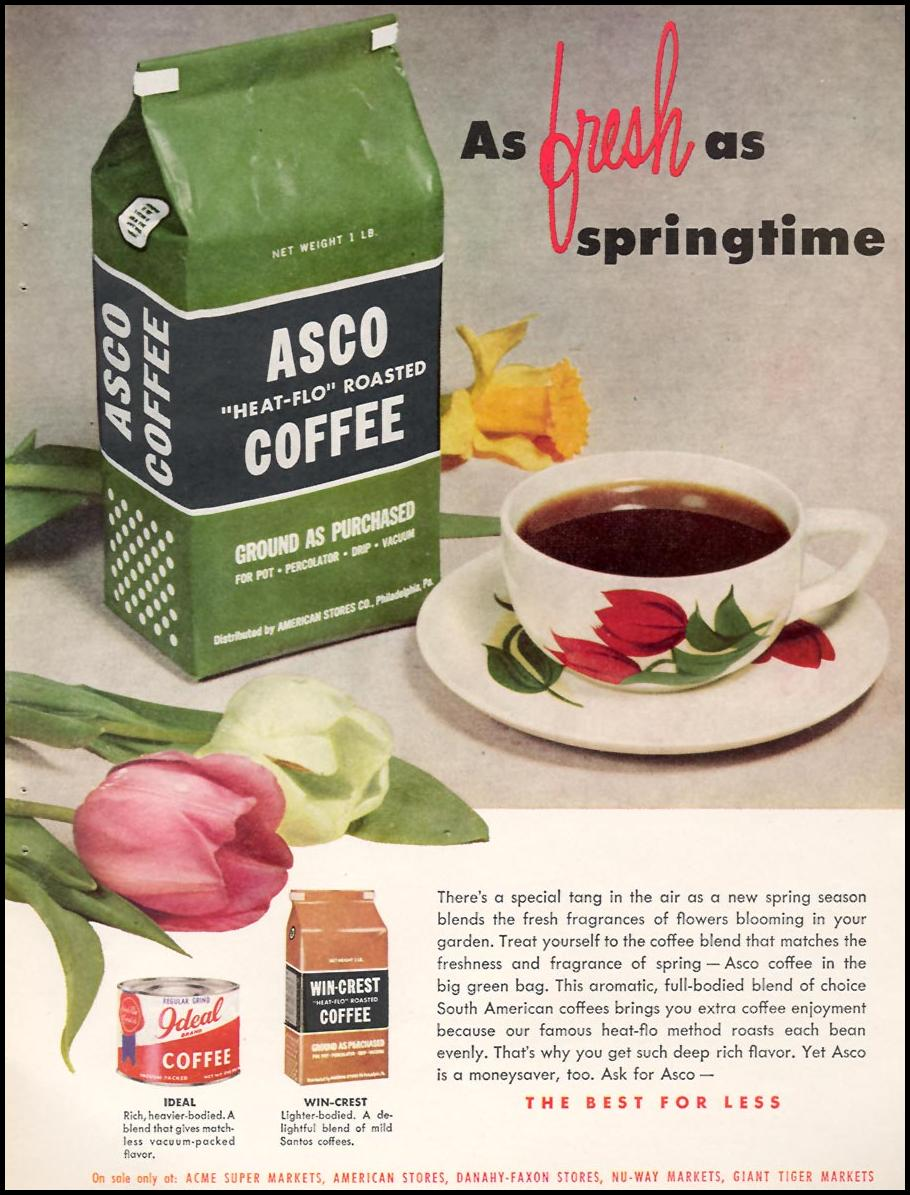 ASCO ROASTED COFFEE FAMILY CIRCLE 01/01/1956
