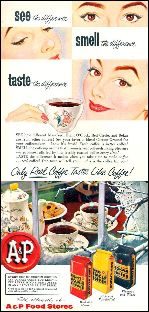 A & P COFFEE WOMAN'S DAY 02/01/1954 p. 58