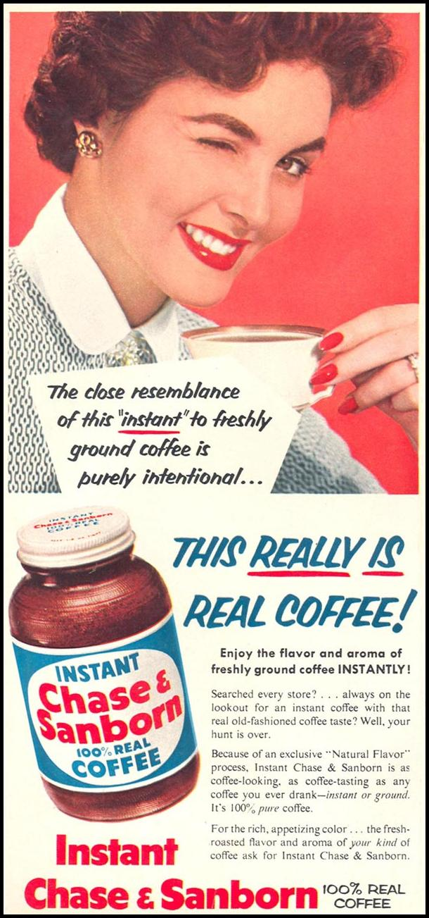 CHASE & SANBORN COFFEE WOMAN'S DAY 02/01/1954 p. 20