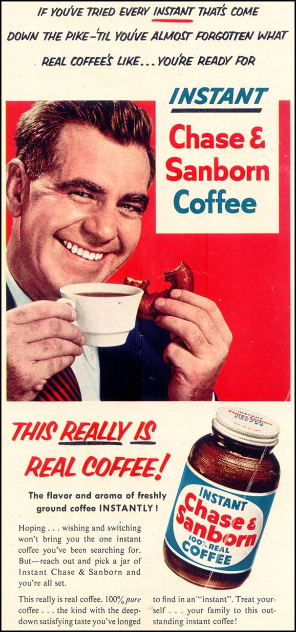 CHASE & SANBORN COFFEE WOMAN'S DAY 03/01/1954 p. 59