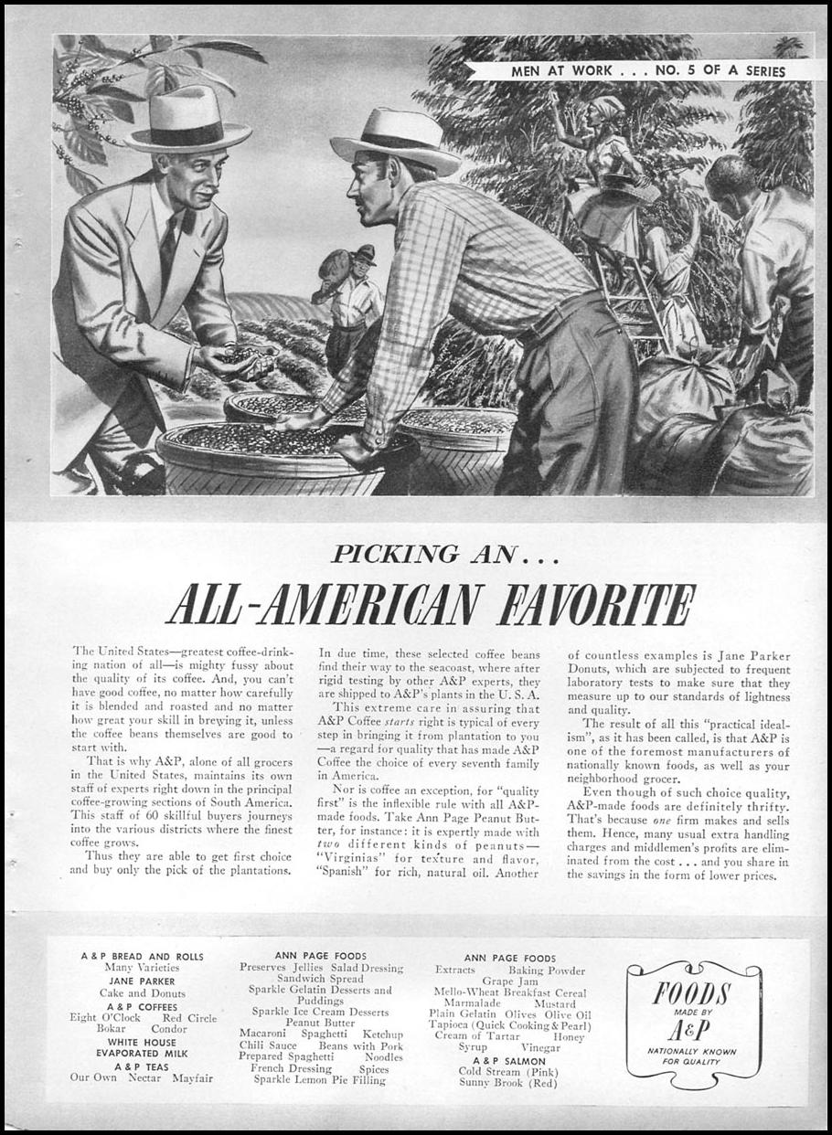 A & P COFFEE WOMAN'S DAY 05/01/1941 p. 67