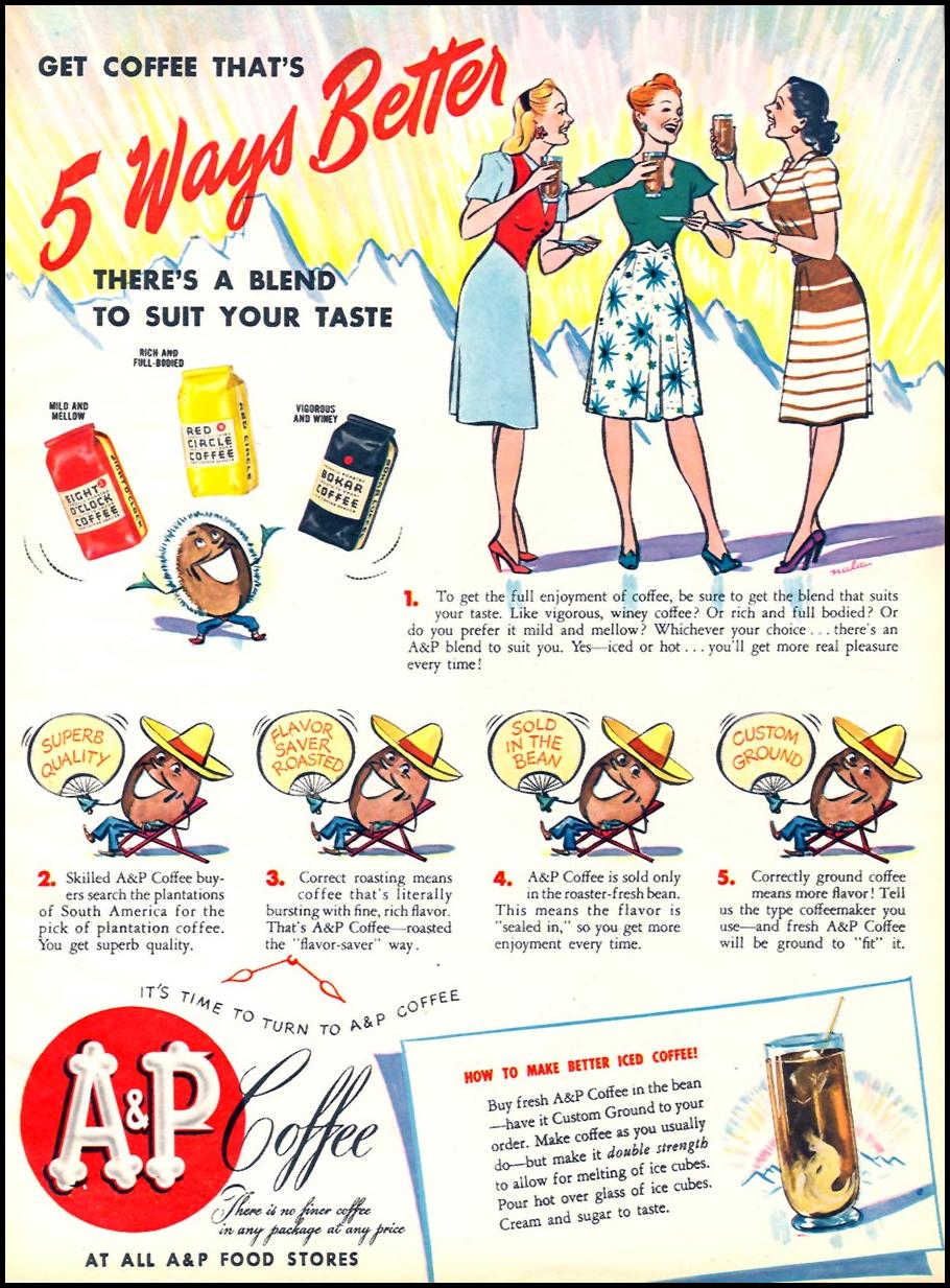 A & P COFFEE WOMAN'S DAY 07/01/1945